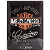 Nostalgic-Art 23125 Harley-Davidson - Genuine Logo, Blechschild 30x40 cm