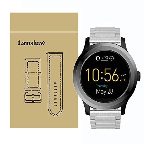 Ceston - Cinturino per orologio smartwatch Fossil Q Founder Gen 1 Gen 2 in acciaio inox