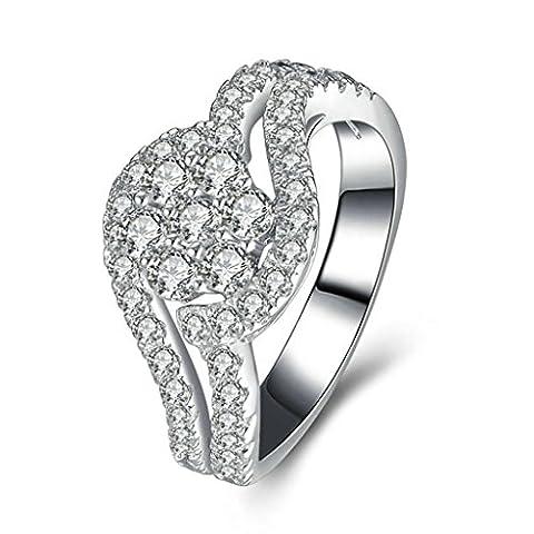Daesar Silberring Damen Ring Silber Ehering für Damen Benutzerdefinierte Ring