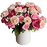LianLe®Bouquet Fleur Artificiel Rose Fleur Déco Mariage Maison