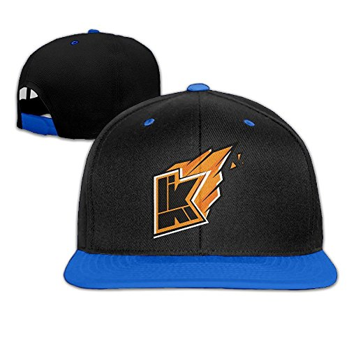 hittings-kwebbelkop-youtube-baseball-cap-adjustable-snapback-flat-cap-royalblue