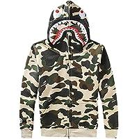 ETASSO Mens Hooded Full Zip Top UTP Hoodie Military Combat Army Camo Jacket Sweatshirt Hooded Top, Beige M