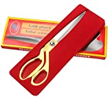 #7: BJE Stainless Steel Sewing / Tailoring Scissor, Sharp Scissors, Steel Scissors, Heavy Duty Scissors (Golden)