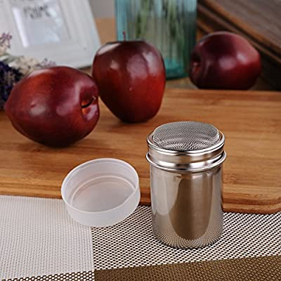 8/12pcs Cappuccino Coffee Stencils Template Strew Flowers Pad + Stainless Steel Chocolate Shaker with Lid