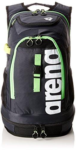 arena Fastpack 2.1 - Schwimm Rucksack, dark grey-acid lime-weiß, 45l (Jungen Tasche Schwimmen)