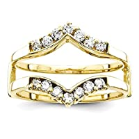 14k Yellow Gold Diamond Guard