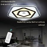 LED Deckenleuchte 1603-460. Mit Fernbedienung ist die Lichtfarbe separat einstellbar A+ Leuchtmittel Modern Wohnzimmerleuchten silber Kreative landhausstil Kronleuchter Pendelleuchte DeckenlampeDeckenstrahler led Deckenleuchte Hängeleuchte Hängelampe