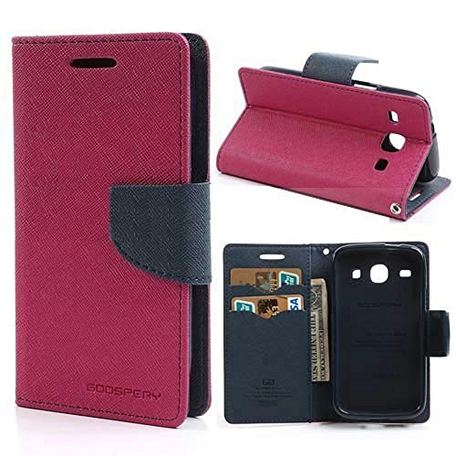 eFinetrick Mercury Goospery Fancy Diary Wallet Leather Flip Cover Case With Credit Card Slot For LG NEXUS 4 E960 PINK BLUE  available at amazon for Rs.240