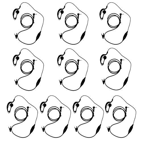 KEESIN G Form Clip-Ear-Kopfhörer / Ohrhörer Mic für Motorola TalkaboutTM 2 Zweiwegradio Walkie Talkie 1-pin 100-0 (10 Stück) - Talkies Motorola Walkie Mr350r