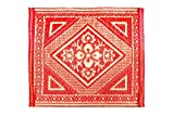 #1: Sapana Assan Red & Ivory. 45x45cms (Set of 6Pcs)