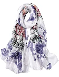 10cfb232e632 5 ALL Echarpe Femme Anti uv Coloré En Soie Couleurs Mélangées Impression  Foulard Mince Tourisme Femme