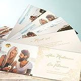 Hochzeitseinladungen Vintage Style, Anmut 200 Karten, Kartenfächer 210x80 inkl. weißer Umschläge, Orange