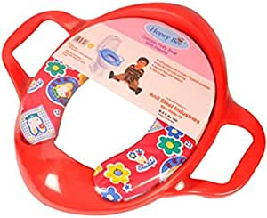 Honey Bee Cushioned Potty Seat with Handle (Tiny Stay Toilet Seat cover FREE)