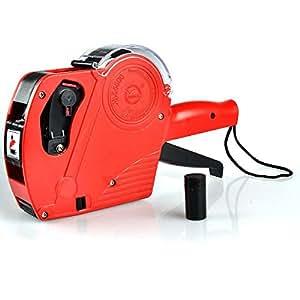 TKSTAR JU5500EOS Etikettiergerät für Preise, mit 1 Rolle Etiketten und 1Tintenpatrone, Etiketten Selbstklebend, für Den Handel One Size Rot