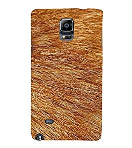 HiFi Designer Phone Back Case Cover Samsung Galaxy Note 4 :: Samsung Galaxy Note 4 N910G :: Samsung Galaxy Note 4 N910F N910K/N910L/N910S N910C N910Fd N910Fq N910H N910G N910U N910W8 ( Fox Skin Feather Look Art )