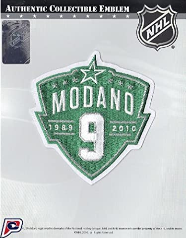 Dallas Stars Number #9 Jersey Retirement Ceremony Patch Mike Modano