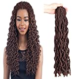 Best GENERIC Hair Extentions - Generic Befunny 6Packs 20inch Wavy Faux Locs Crochet Review