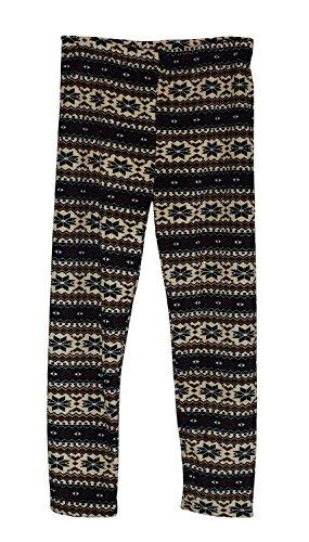 S&LU tolle, warme Damen Thermo-Leggings in verschiedenen schönen Designs Übergröße XL-5XL Modell 8 braun