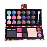 HARRYSTORE Lidschatten, 26 Farben Augenschatten Make-up Palette Lidschatten Blush Lip Gloss Powder Palette (Rot)