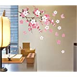 Wall Sticker Flowers Butterfly Decal Art DIY Home Wall Decor YHF-0110 S by fancyqube