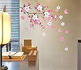 Wall Sticker Flowers Butterfly Decal Art DIY Home Wall Decor YHF-0110 S