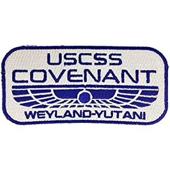 Alien Covenant USCSS Covenant Iron On Patch Colour White 95mm x 37mm