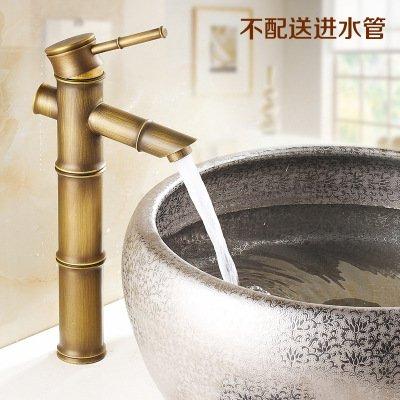 XBR alle Messing Waschbecken Wasserhahn, Zeichnen Bambus Wasserhahn, Hand Waschbecken Wasserhahn B