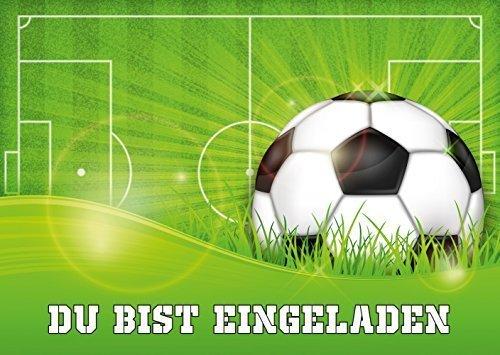 Fussball-Einladungen (Set 1). 11 Fussball-Einladungskarten zum Kindergeburtstag oder zur Fussball-Party von EDITION COLIBRI © (10687)