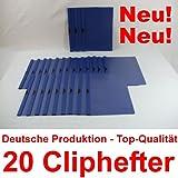 Bewerbungsmappen Cliphefter Klemmmappen 20 Stück in DUNKELBLAU