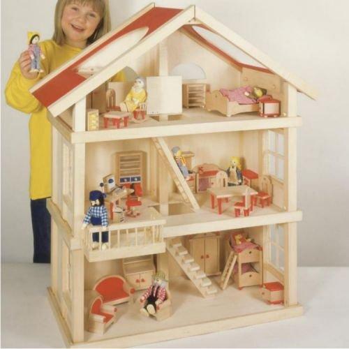 Puppenhaus, 3 Etagen,Holzaus,Holzspielzeug