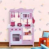 Cocina de Juguete para Niñas Set Juego Cocinita con Sonido Infantil Rosa 3 años