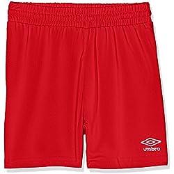 Umbro King Jnr Pantalón de Fútbol, Niño, Rojo, 4 Años