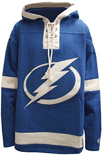 Old Time Hockey NHL Tampa Bay Lightning Lacer Fleece Hoody Hoodie Sweater Mens