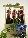 6er Bierträger aus Holz Spruch Feuerwehrmann