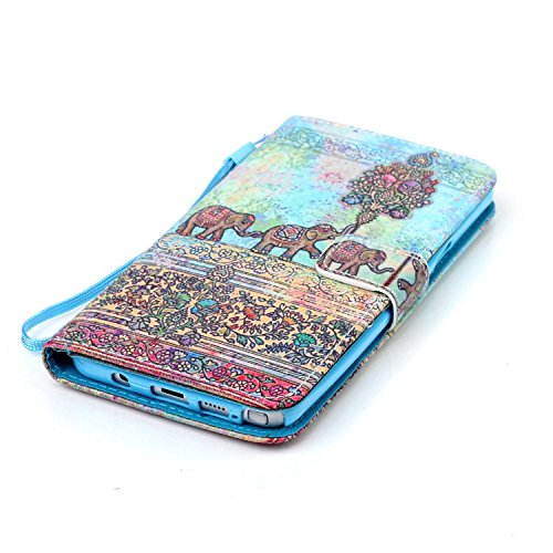 Meet de Samsung Galaxy Note 5 N920i Bookstyle Étui Housse étui coque Case Cover smart flip cuir Case à rabat pour Galaxy Note 5 Coque de protection Portefeuille - this iphone is locked slide to unloke éléphant ethnique