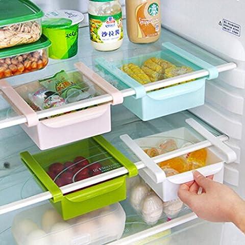 Bluelover Cocina Plástico Nevera Nevera Rack de almacenamiento Congelador Estante Holder Cocina Organización