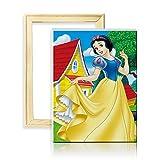 ufengke Kit Broderie Diamants Plein Princesse Mosaique Peinture Diamant Résine Rond...