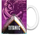 Brandino Titanisches Filmplakat - Titanic Movie Poster Unique Coffee Mug | 11Oz Ceramic Cup| The Way to Surprise Everyone on Your Special Day| Custom Mugs by