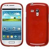 PhoneNatic Custodia Compatibile con Samsung Galaxy S3 Mini Cover Rosso Brushed Galaxy S3 Mini in Silicone Cover