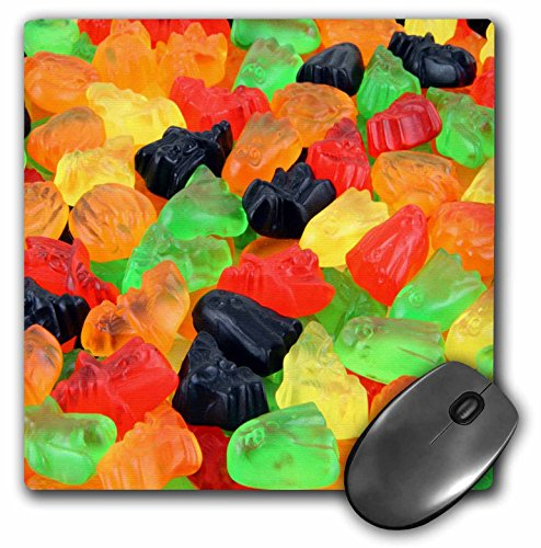 3dRose mp 156806_1 Mauspad mit Halloween-Motiv in vielen Farben, 20,3 x 20,3 x 0,63,5 cm