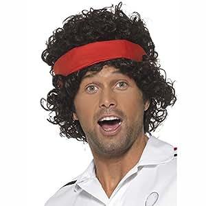 NEW Perruque joueur de Tennis avec bandeau noir