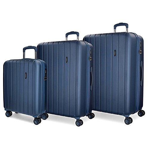 Movom Wood 5319464 Juego de Maletas, 75 cm, 220 Litros, Azul