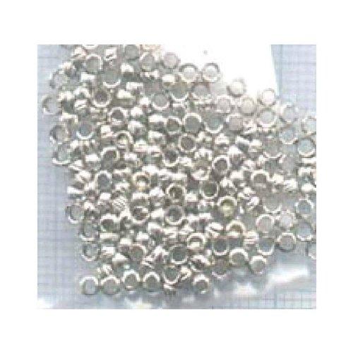 WDK PARTNER - A0902234 - Loisirs créatifs - 60 Perles à écraser argentées