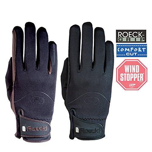 Roeckl 3301-558 Gants d'équitation coupe-vent Softshell Noir Black