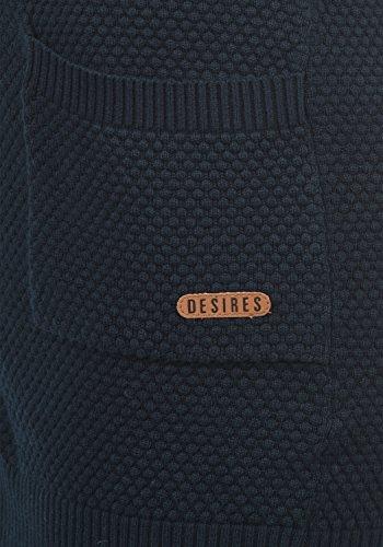 DESIRES Sophia Damen Strickjacke Cardigan Feinstrick mit V-Ausschnitt aus 100% Baumwolle Insignia Blue (1991)