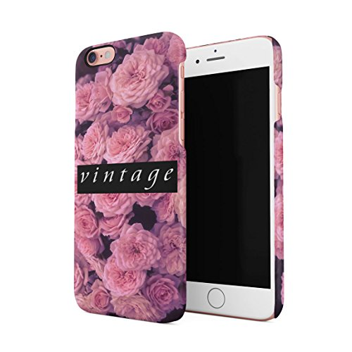 Fuck You Very Much Pink Roses Pattern Dünne Rückschale aus Hartplastik für iPhone 6 Plus & iPhone 6s Plus Handy Hülle Schutzhülle Slim Fit Case cover Vintage Pink