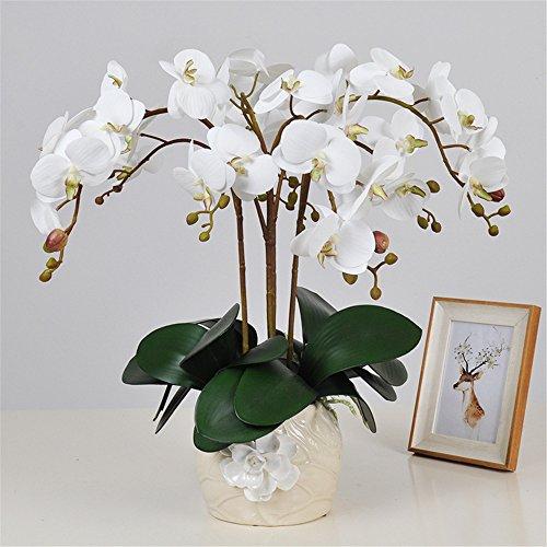 SituMi Las orquídeas de Flores Artificiales adornos decorativos jarrones de cerámica creativa...