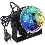 Luci da palco, KINGSO Mini magica fase palla lampada cristallo rotante sfera LED RGB effetto per ...