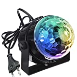 KINGSO Mini LED Lichteffekte Disco Licht Party Licht Bühnenbeleuchtung 5W RGB Sprachaktiviertes Kristall Magic Ball Bühnenlicht für Show Disco Ballsaal KTV Stab Stadium Club Party