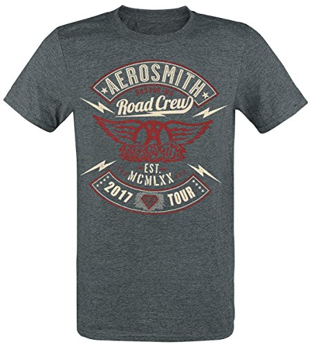 Aerosmith Road Crew Tour 2017 Camiseta Gris S